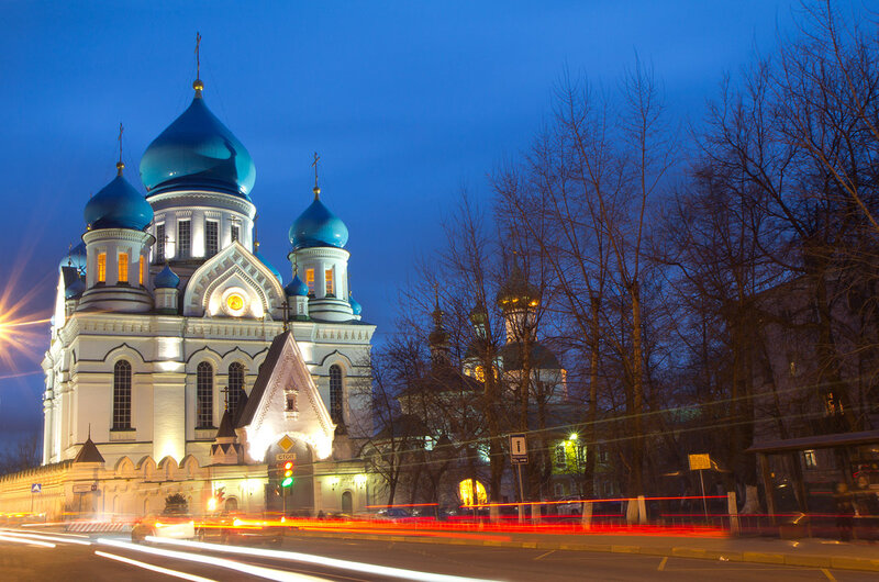 Николо перервинский монастырь .Вечер.