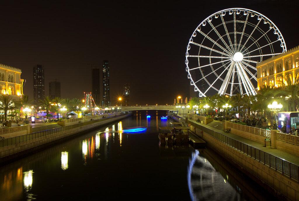 Sharjah é uma beleza noturna!