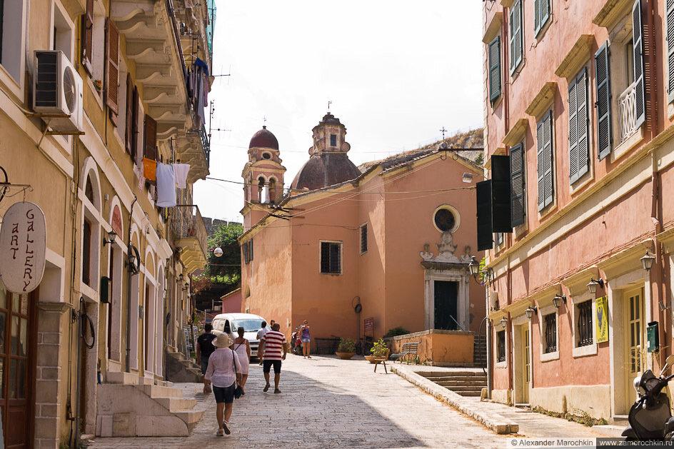Церковь Девы Марии Тенедос в Керкире, Корфу, Греция
