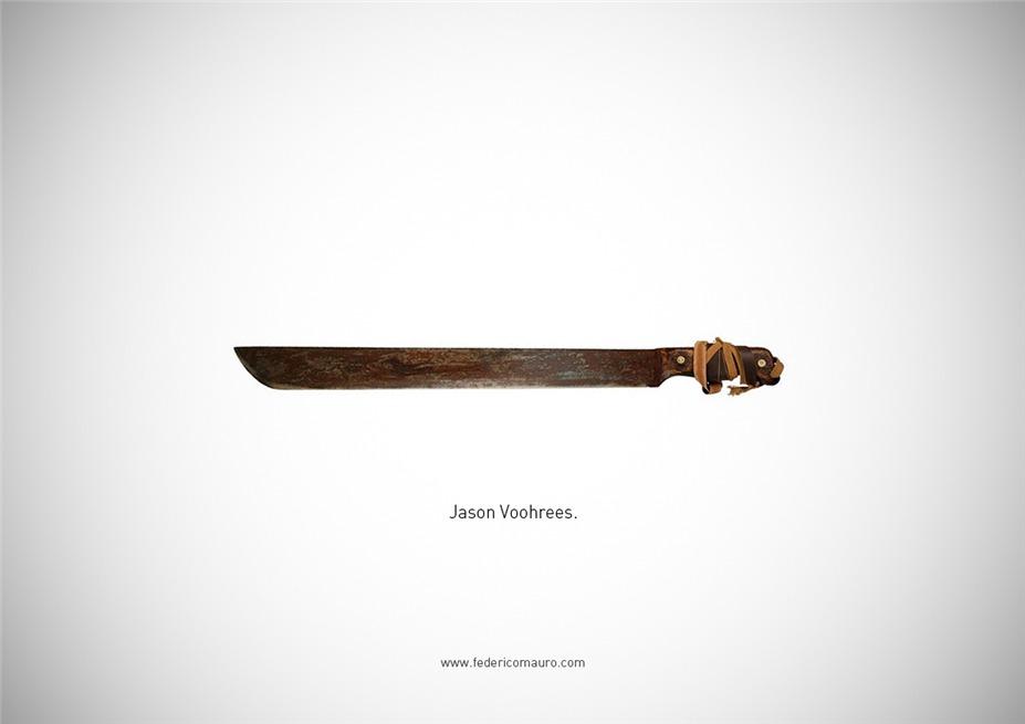 Знаменитые клинки, ножи и тесаки культовых персонажей / Famous Blades by Federico Mauro - Jason Voorhees