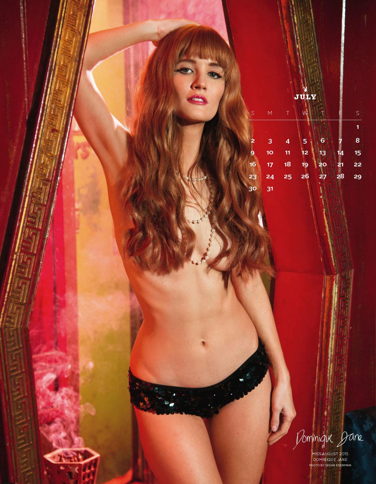 Playboy US Playmates 2017 calendar - Miss August 2015 Dominique Jane / Доминик Джейн – Девушка месяца август 2015 журнала Плейбой США