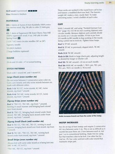 Круговое вязание носков двумя спицами 974