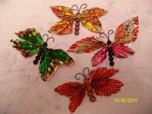 Как сделать бабочку из фантиков от конфет