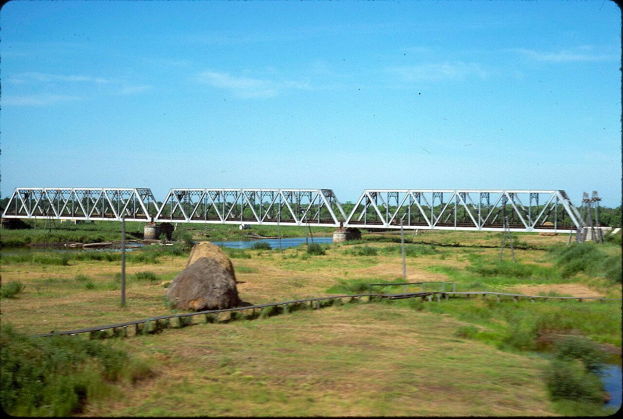 Мост через реку Уссури в Приморье