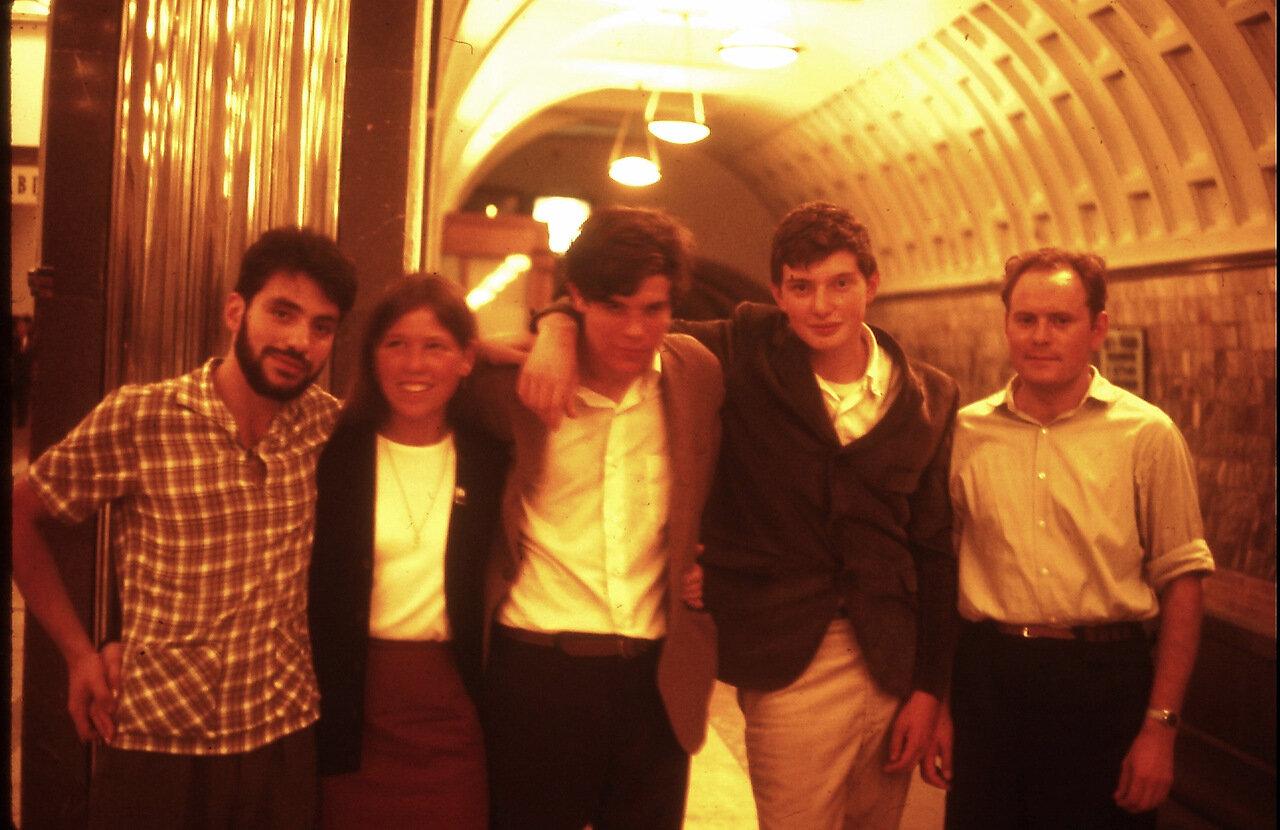 Eugene, Rebecca, Jeff Walker, Mark Sobel, Alexander-Moscow Metra 1966