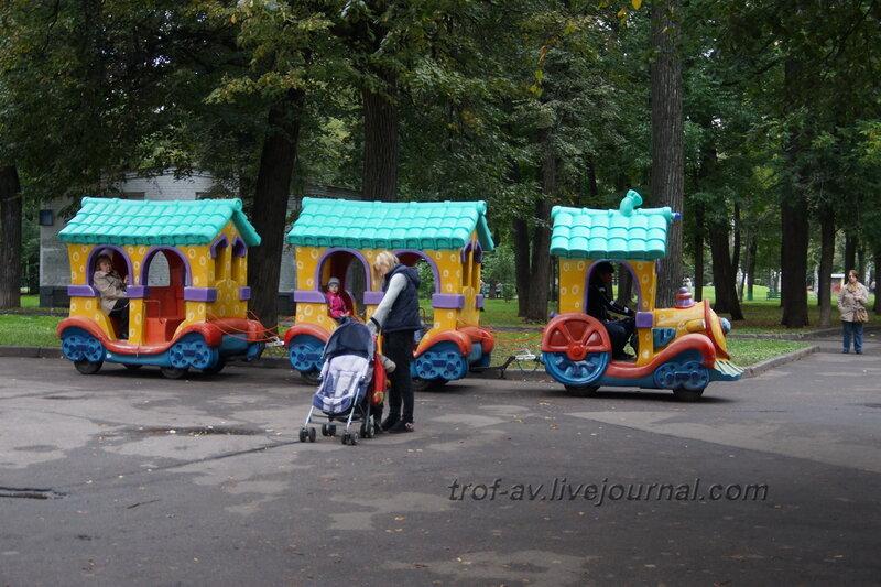 Детский паровозик. Мемориально-парковый комплекс героев 1 Мировой войны, Москва