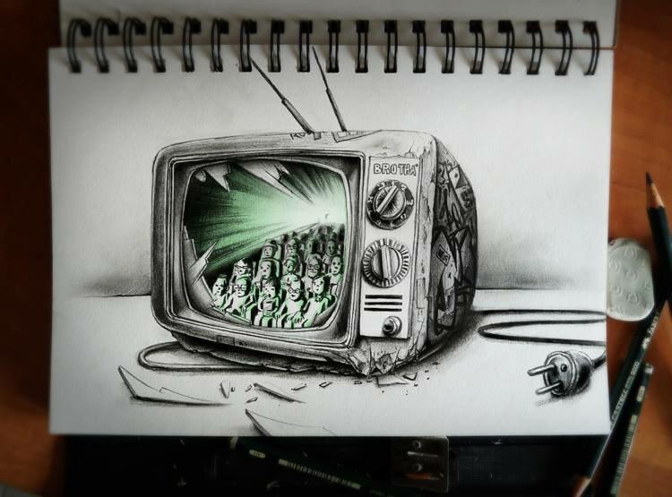 Детали в простом. Невероятные карандашные рисунки от Pierre-Yves Riveau (aka Pez). 60 работ!