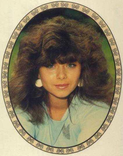 Переводная картинка из ГДР девушка 1987