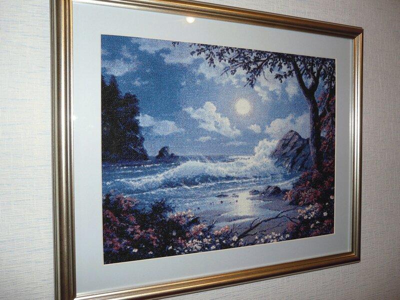 """Схема вышивки """"Лунная ночь на море"""""""