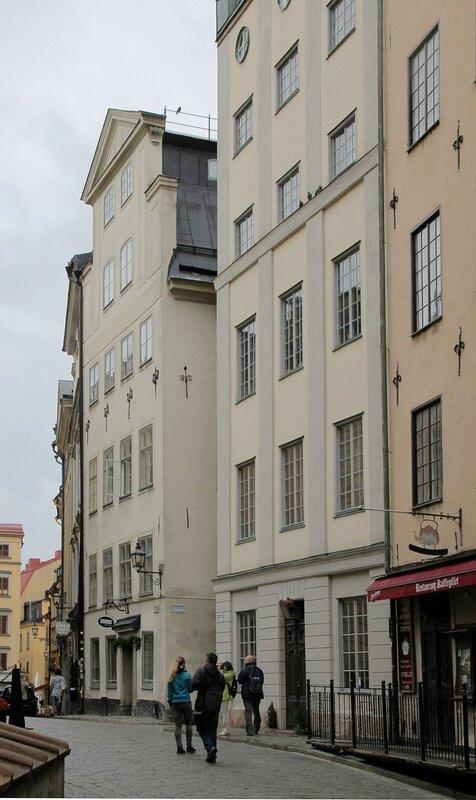 Стокгольм, Гамла Стан,  Улица Тренгсунд. Sundmanska Huset,  Stuténska Huset.Trångsund. Stockholm, Gamla Stan