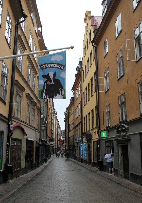 Stockholm, Gamla Stan Street Västerlånggatan