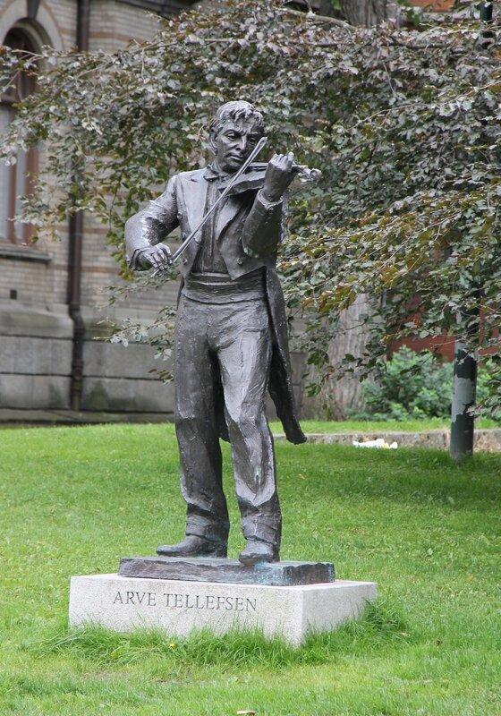 Trondheim, a monument to the violinist Arve Tellefsen