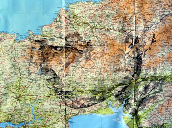 "Картографический арт-проект ""Maps series"". Художник Ed Fairburn"