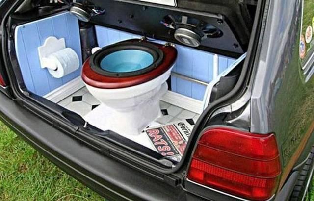 Как сделать из багажника сабвуфер 595