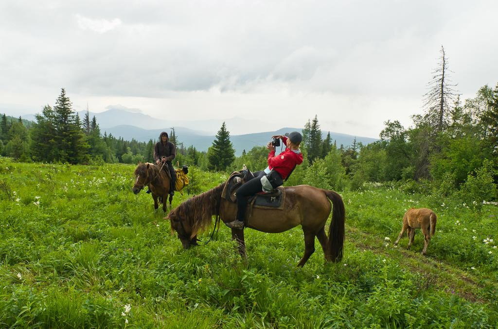 21. Конный поход на гору Ялангас. Самые красивые места в Башкирии. На обратном пути небо уже не было таким синим