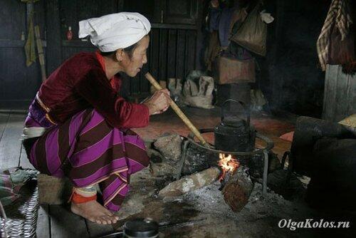 Разжигание костра-плиты