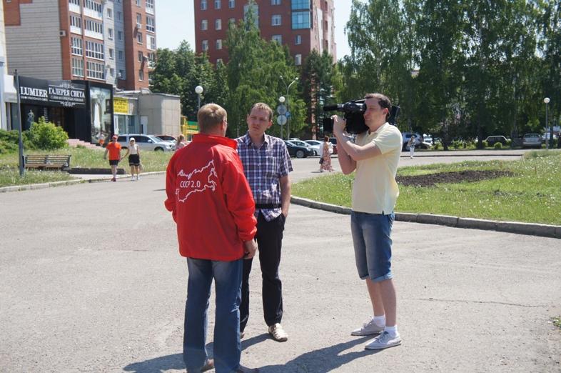 Пикет в Томске 22 июня 06