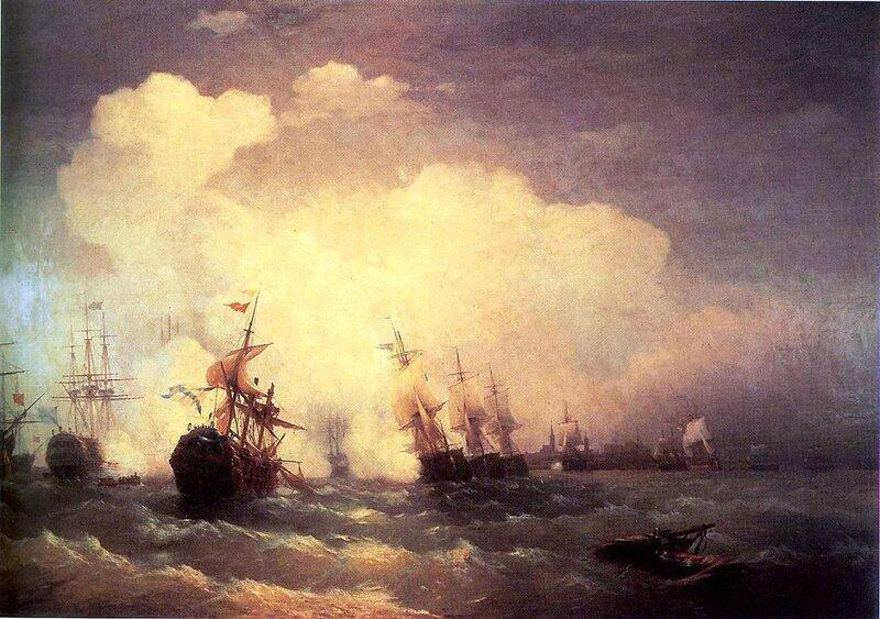 Морское сражение при Ревеле (9 мая 1790), Айвазовский Иван Константинович, живопись