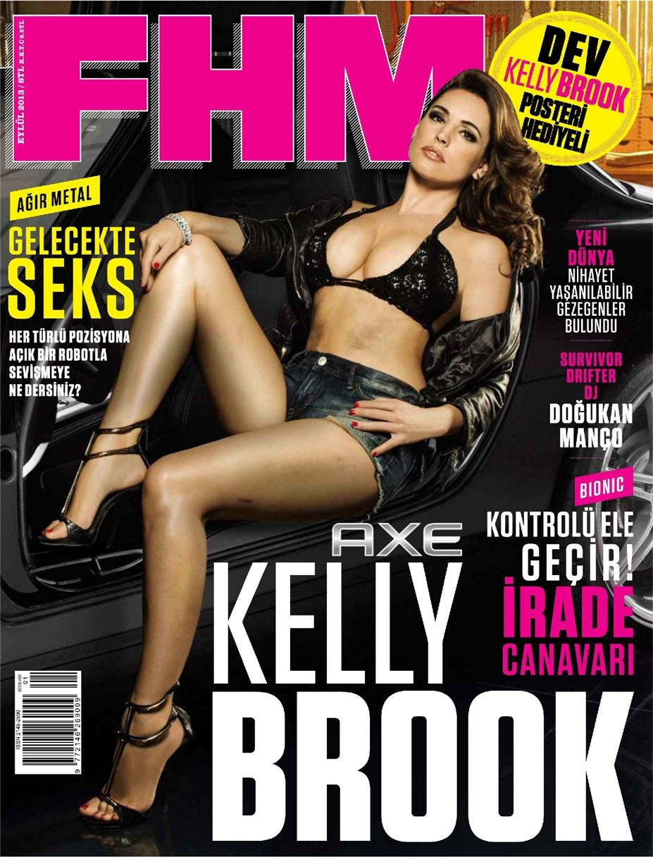 Mercedes, Axe, Kelly Brook / Келли Брук в журнале FHM Turkey, сентябрь 2013