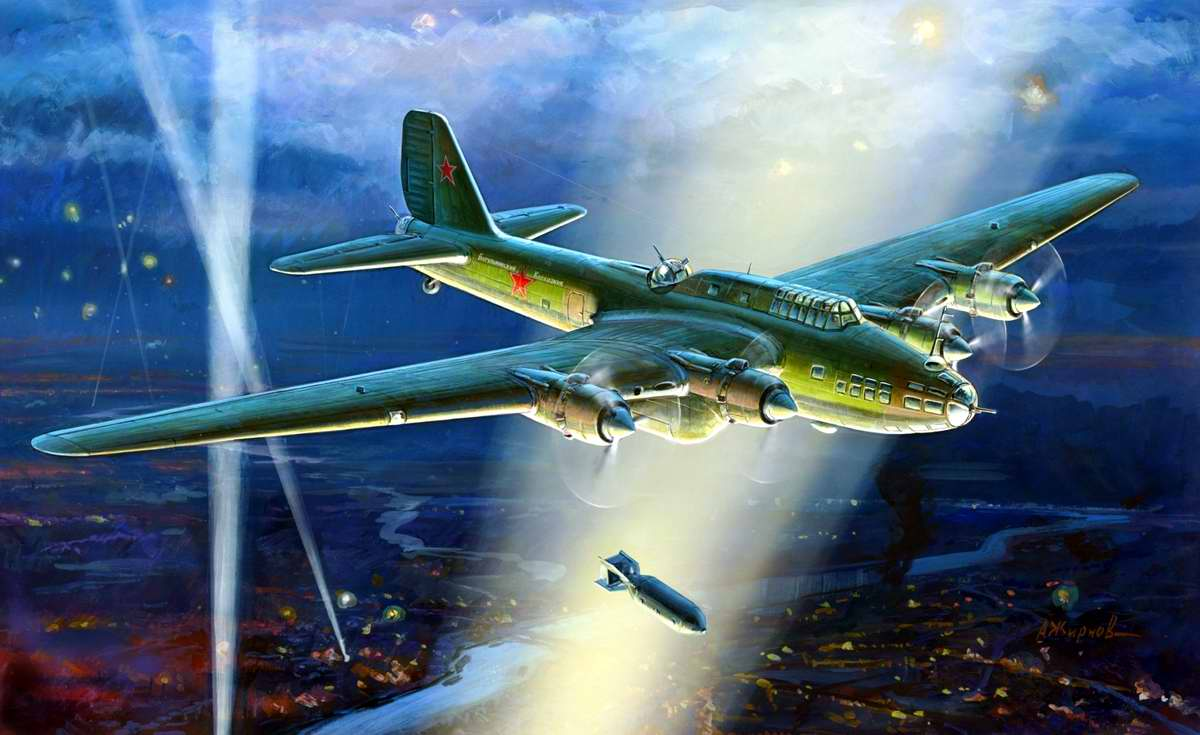 Советский тяжелый бомбардировщик ПЕ-8 (ТБ-7)
