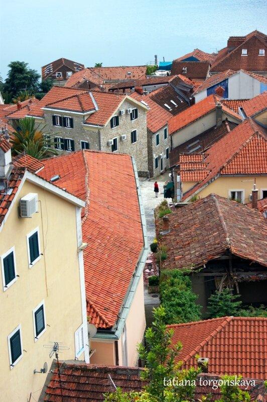 Старый город Херцег Нови из крепости