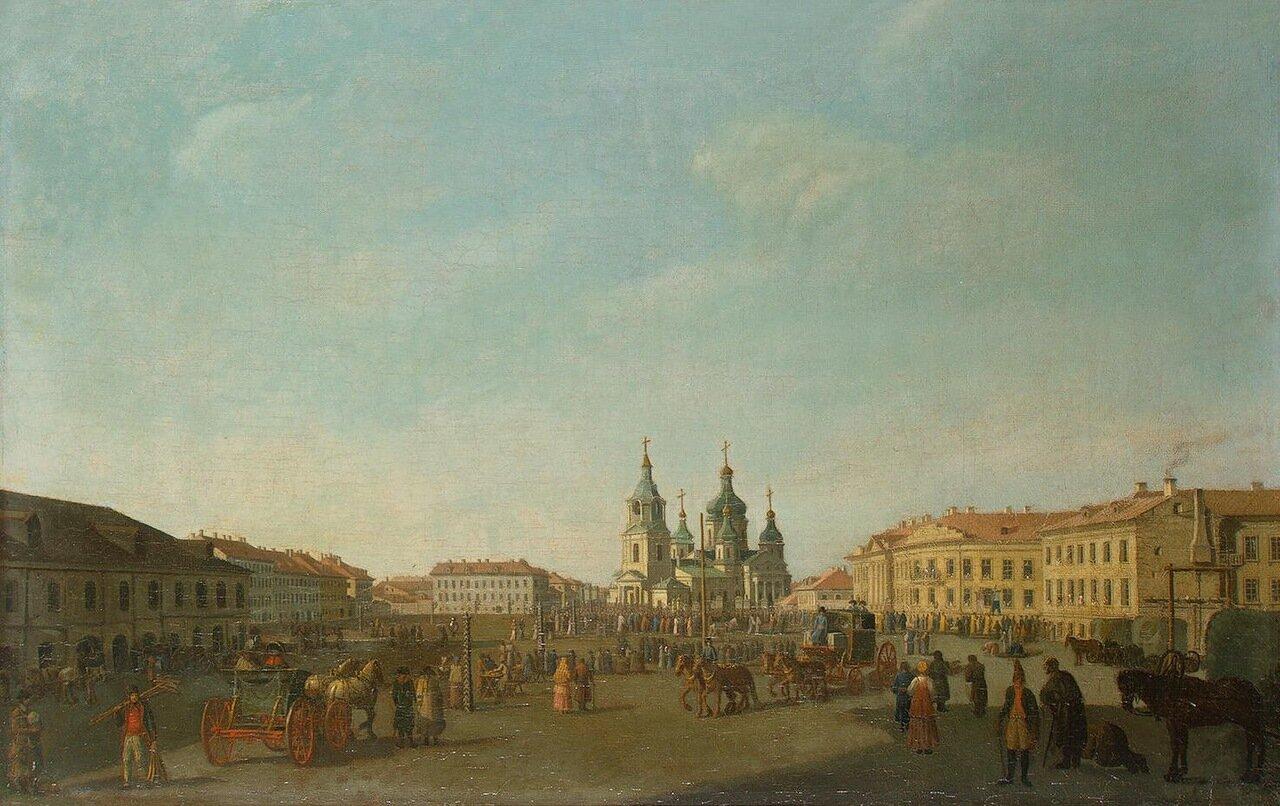 Вид Сенной площади в Петербурге