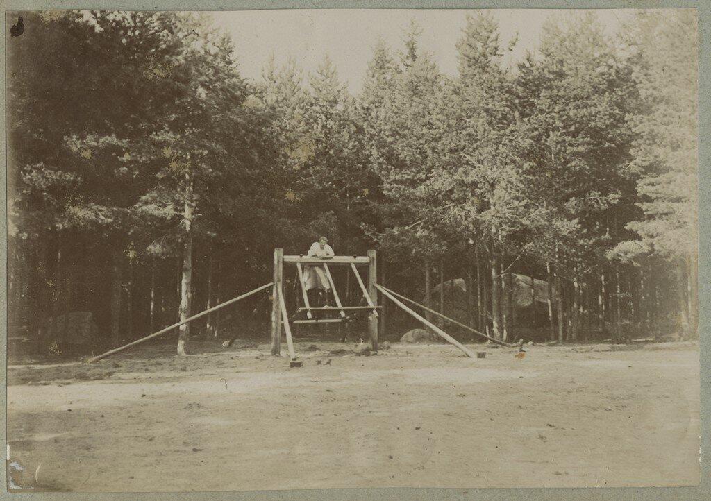1900. Женщина на качелях