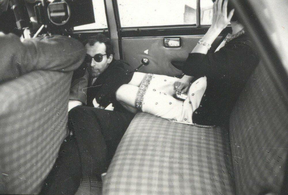1963. Жан-Люк Годар и Бриджит Бардо на съемках «Презрения»