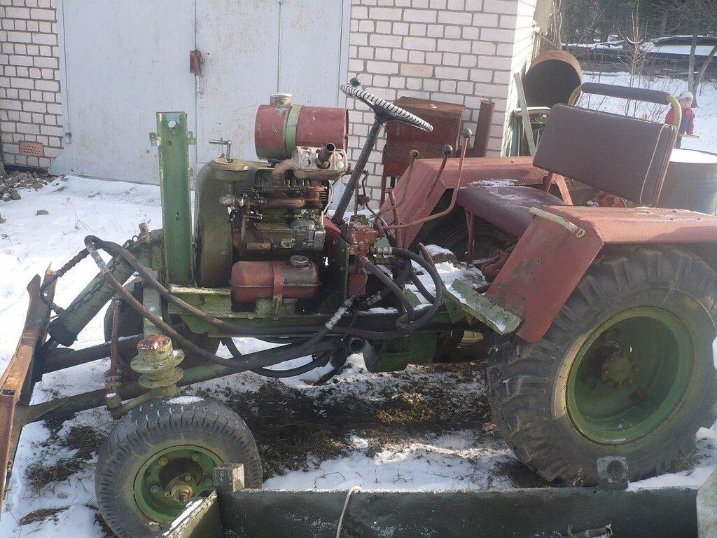 Как сделать самодельный трактор с двигателем уд 2