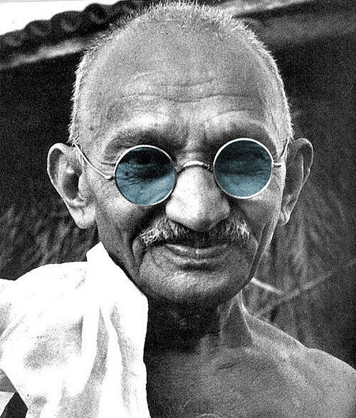 """""""If I had no sense of humor, I would long ago have committed suicide."""" ― Mahatma Gandhi"""