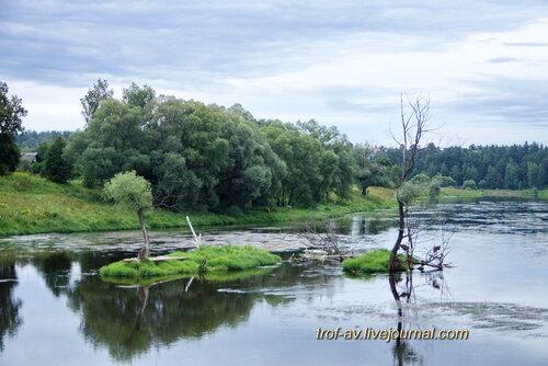 Река Москва, вид на мраморные острова