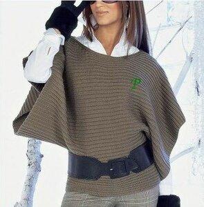 Стильный объемный пуловер (пончо) из каталога Apart
