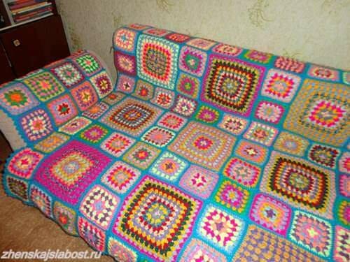плед на диван Анны Лачиловой