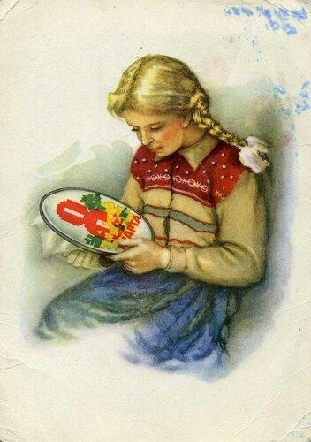 1961г открытка поздравление рисунок фото картинка