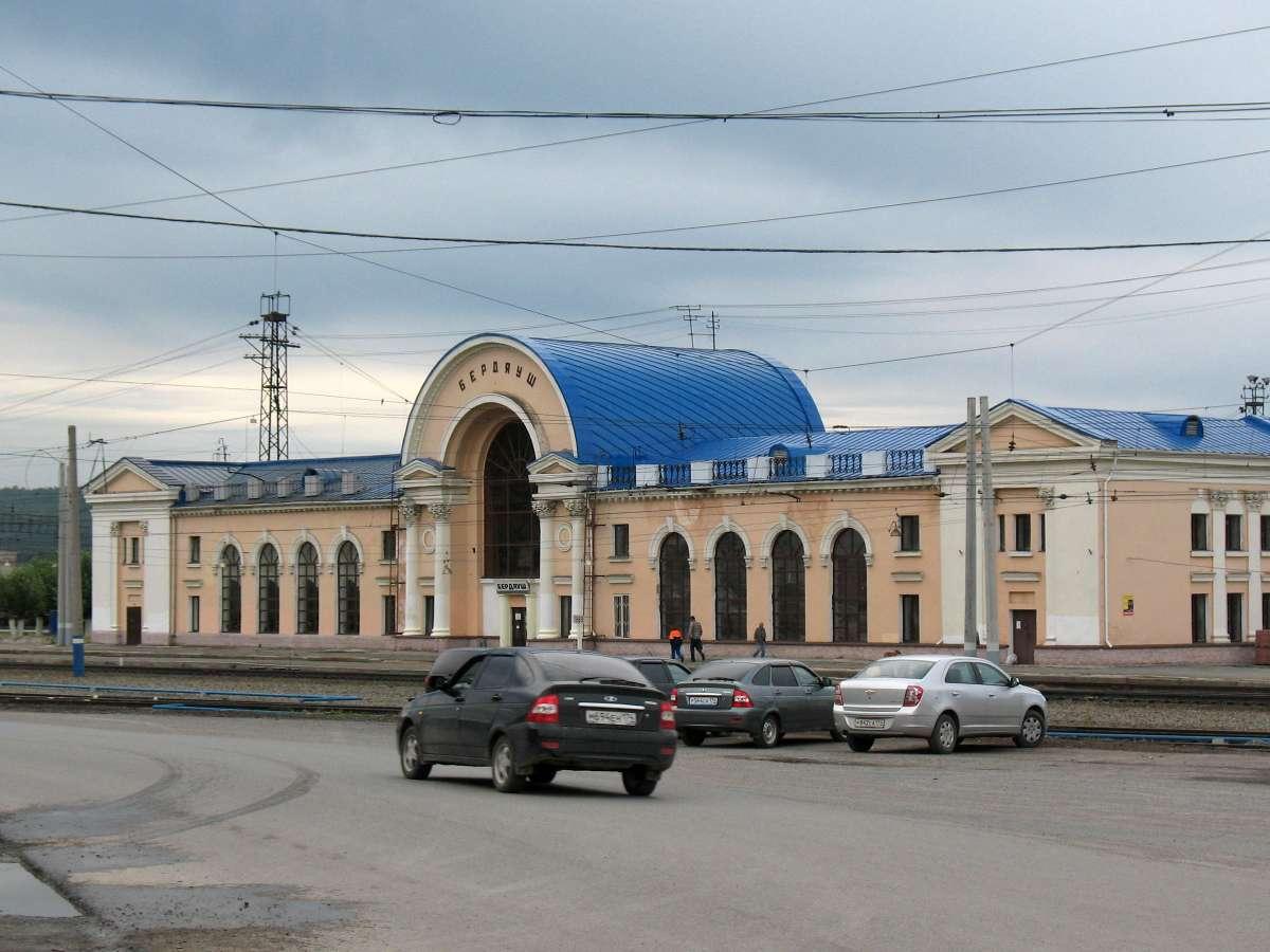 А так выглядит вокзал в Бердяуше сейчас (03.07.2014)