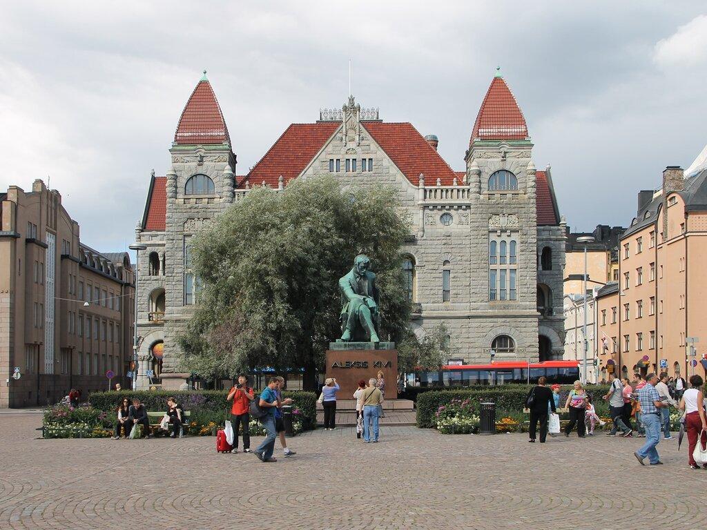 Finnish National Theatre, Helsinki, Rautatientori,Railway Square,Järnvägstorget. Хельсинки, привокзальная площадь, Финский национальный театр