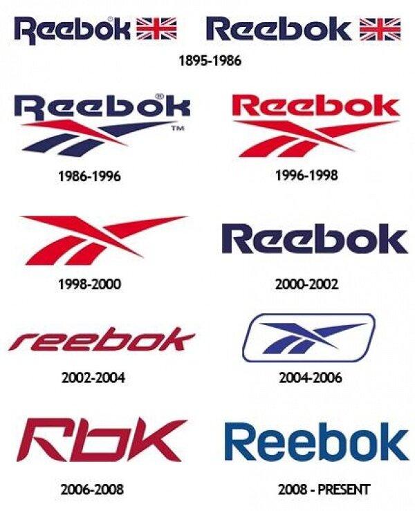 эволюция логотипа reebok