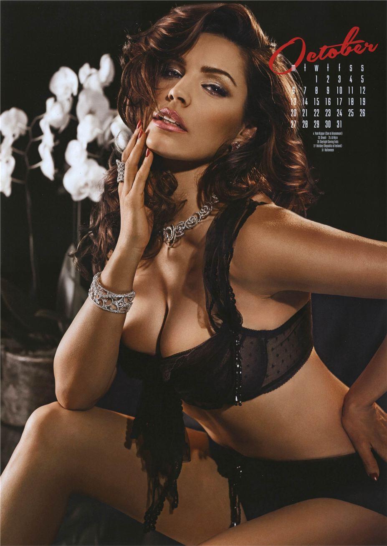 октябрь - Календарь сексуальной красотки, актрисы и модели Келли Брук / Kelly Brook - official calendar 2014