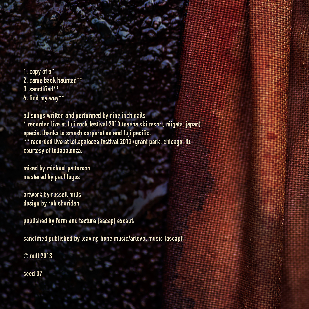 Nine Inch Nails: Live 2013 EP - ILLNESS ILLUSION