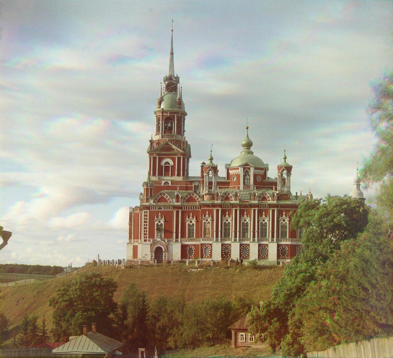 Можайский Николаевский собор. Вид сбоку, 1911.