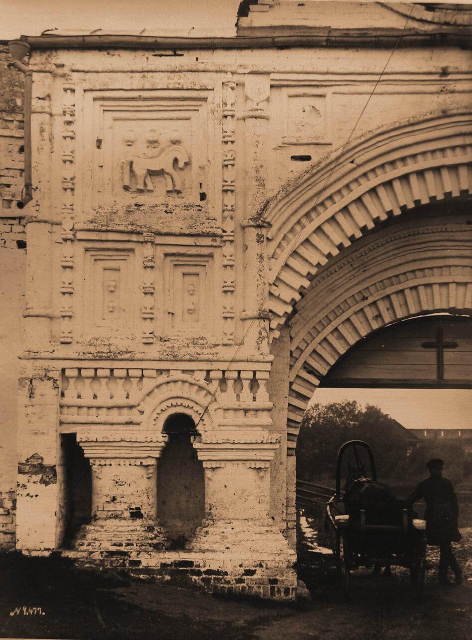 Вид части Святых врат бывшего Успенского Горицкого монастыря