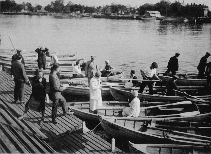 At the docks of the Gorky Central Park of Culture and Leisure, Moscow, 1933