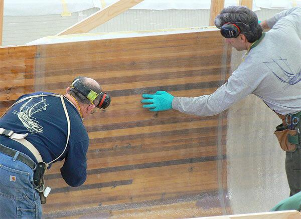 Как защитить деревянный корпус лодки стеклопластиком