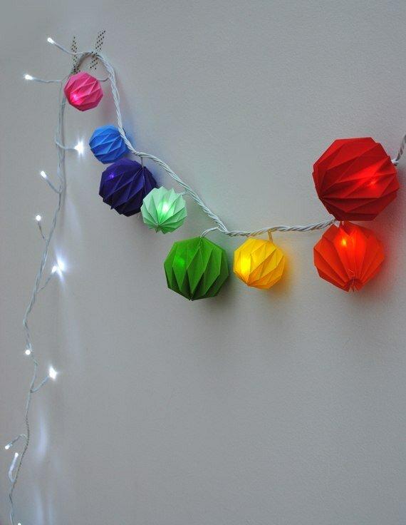 Оригами на игрушки на елку