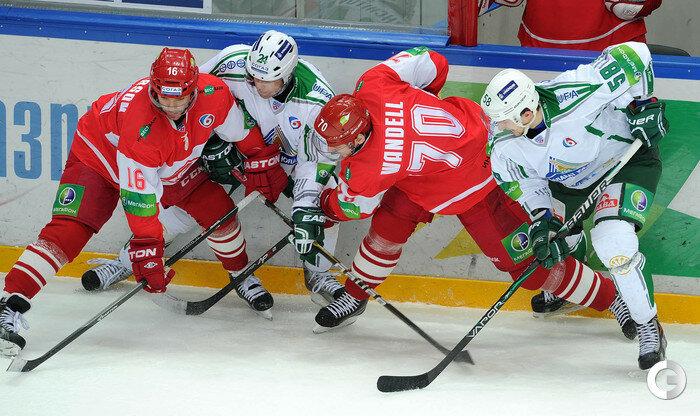 «Спартак» vs «Салават Юлаев» 2:3 чемпионат КХЛ 2013-2014 (Фото)