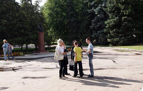 Обсуждение на улице