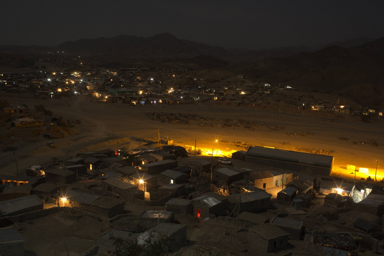 A general view shows the town of Berahile in Afar, northern Ethiopia
