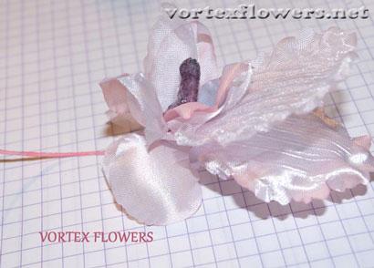 """Орхидея из ткани """"Элен"""". Орхидея из ткани своими руками."""