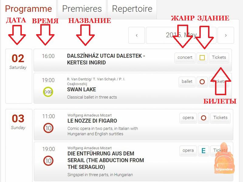 Сайт оперного театра Будапешта