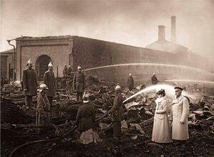 Пожар на Канатной фабрике Гота.